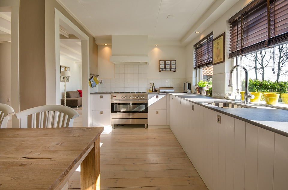Kitchen House Interior Floor Home Modern Room